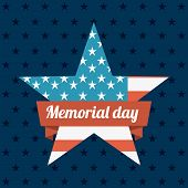 picture of memorial  - Memorial Day design over blue background - JPG