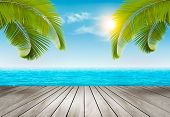 picture of sunny beach  - Vacation background - JPG
