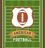 picture of football pitch  - American football design over green pitch background - JPG