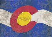 image of texans  - The flag of the USA state of Colorado with grunge effect - JPG