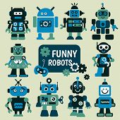 pic of robot  - Funny robots set - JPG