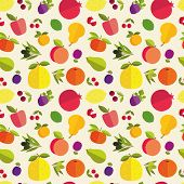Постер, плакат: Fruit Seamless Pattern
