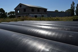 foto of pipe-welding  - The gas pipeline - JPG