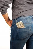 picture of tuck-shop  - Banknote tucked in jeans back - JPG