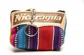 pic of memento  - souvenir memento key chain change purse hand made woven colorful fabric made in Nicaragua - JPG