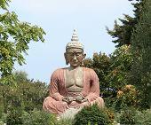 pic of samadhi  - buddha sitting in the posture of meditation - JPG