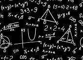 Algebra. Geometry. Abstract background. Seamless.