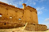 picture of euphrat  - historic temple of ancient palmyra at early morning - JPG