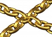 Golden Chains Kept Toghether By A Central Chain Element