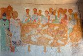The Last Supper Mural. David Gareja Monastery. Kakheti. Georgia.