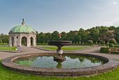 image of munich residence  - Dianatempel and fountain in Hofgarten Munich Germany - JPG