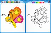 Butterfly Coloring Page poster
