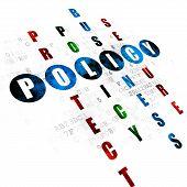 Постер, плакат: Insurance concept: Policy in Crossword Puzzle