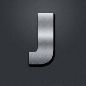 pic of letter j  - Letter shabby metal chromium - JPG