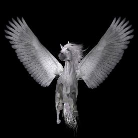 foto of divine  - Pegasus is a lengendary divine winged stallion and is the best known creature of Greek mythology - JPG