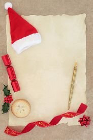 foto of letters to santa claus  - Christmas letter to santa claus with hat - JPG