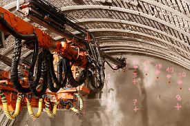 foto of grout  - Construction of piperoof grouting for tunnel construction - JPG