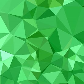 stock photo of inchworm  - Low polygon style illustration of inchworm green abstract geometric background - JPG
