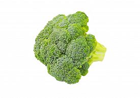 picture of cruciferous  - Whole broccoli vegetable isolated on white background - JPG