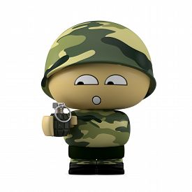 stock photo of grenades  - 3D Cartoon character - JPG