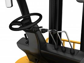 picture of levers  - Cabin forklift truck with levers and steering wheel control - JPG
