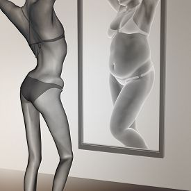 foto of emaciated  - Concept or conceptual 3D woman - JPG