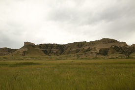 stock photo of western nebraska  - Scenic hills in the western Nebraska landscape - JPG