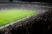 TWICKENHAM LONDON - NOVEMBER 14: English crowd at England vs Argentina Investec Rugby Match on Novem