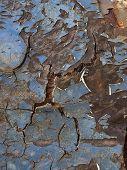 Постер, плакат: Цветная фотография металлических поверхностей с ржавчиной и краска