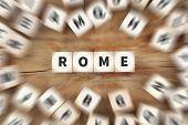 Rome Town City Italy Travel Traveling Dice Business Concept poster