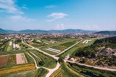 Aerial View Of Fertile Land And Crops In Southern Croatia In The Neretva Valley poster