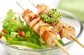 stock photo of souvlaki  - pork  - JPG