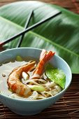 asian style shrimp and noodles