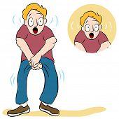 An image of a man with a weak bladder.