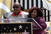 LOS ANGELES - MAY 19:  Stevie Wonder, Chaka Kahn at the Chaka Kahn Hollywood Walk of Fame Star Ceremony at Hollywood Blvd on May 19, 2011 in Los Angeles, CA.