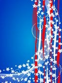Abstract background with American flag symbols and colors