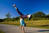 Woman Doing Cartwheel