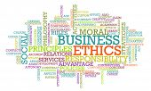 foto of ethics  - Business Ethics and Guidelines as a Concept Word Cloud - JPG