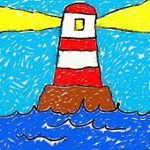 Childs Lighthouse Drawing