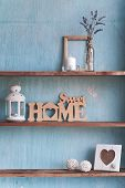 Shabby Old Interior Decor For Farmhouse. poster