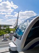 monorail at VDNH stop,Moscow