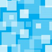 Square blue seamless pattern