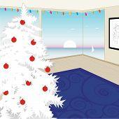 Modern White Christmas Tree (Vector)