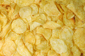 picture of potato chips  - Potatoe chips background - JPG