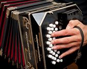 picture of aerophone  - Playing the bandoneon traditional tango instrument Argentina - JPG