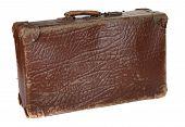 antiquarian brown suitcase