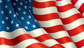 pic of waving  - Clean Illustration of a Waving US Flag - JPG
