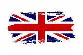 Great Britain Flag. Jack Uk Grunge Flag Isolated White Background. English United Kingdom Design. Br poster