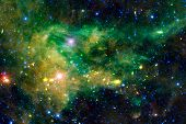 Science Fiction Space Wallpaper, Galaxies And Nebulas In Awesome Cosmic Image. Elements Of This Imag poster