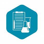 Checklist Chemistry Lab Icon. Simple Illustration Of Checklist Chemistry Lab Vector Icon For Web Des poster